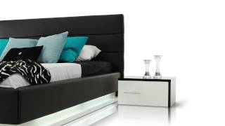 Infinity - Contemporary Black Platform Bed With Lights - Vgkcinfinity-blk
