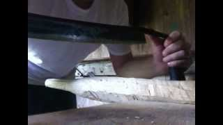 Using A Drawknife To Make A Shaving Horse Leg