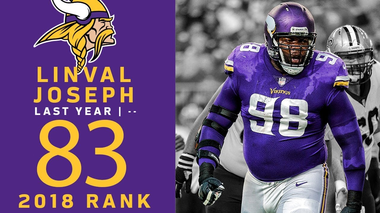 best website 000bd 2a497 #83: Linval Joseph (DT, Vikings) | Top 100 Players of 2018 | NFL