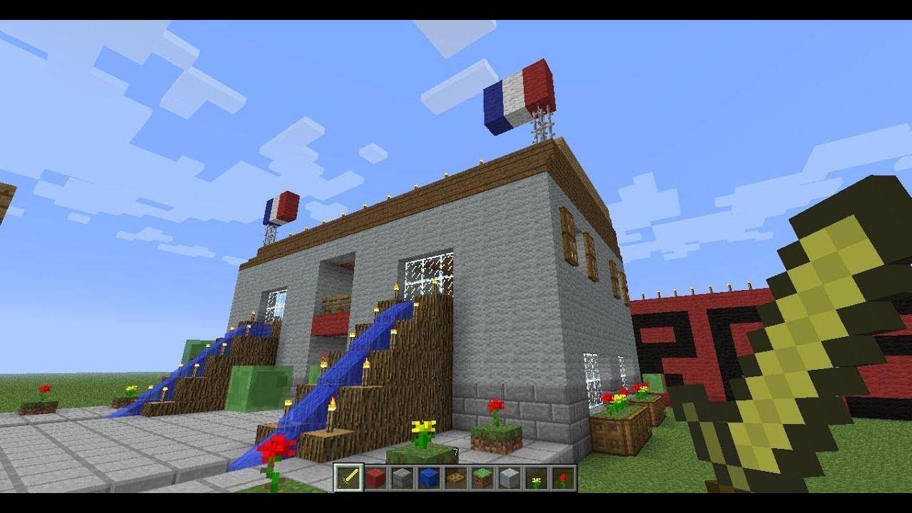 minecraft petit village construction de la mairie part 5 2 3 youtube. Black Bedroom Furniture Sets. Home Design Ideas