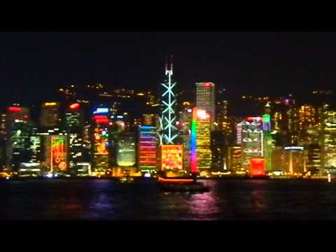 Hong Kong at night -- Symphony of lights, Star Ferry to Kowloon