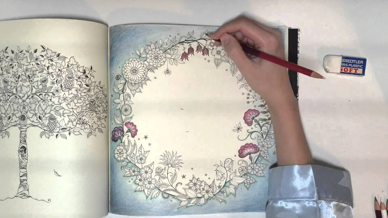 The Secret Garden Colouring Coloring Book Time Laspe Ideas Video