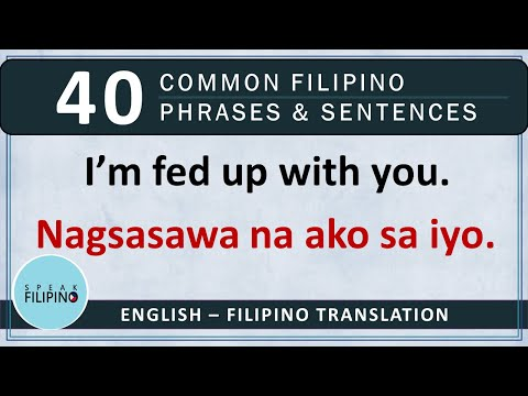 COMMONLY USED FILIPINO Phrases and Sentences! #5 (English-Tagalog)