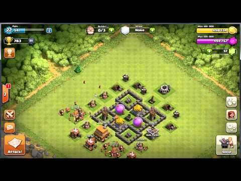 Tutorial Clash Of Clans Townhall 4 maksimal upgrade ke Townhall 5 Guide (Bahasa Indonesia)