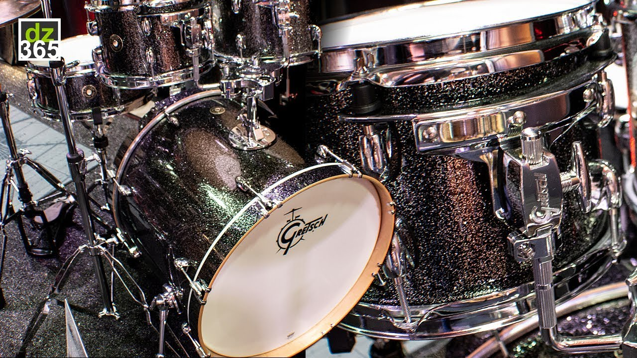 gretsch catalina maple drums new black stardust youtube. Black Bedroom Furniture Sets. Home Design Ideas