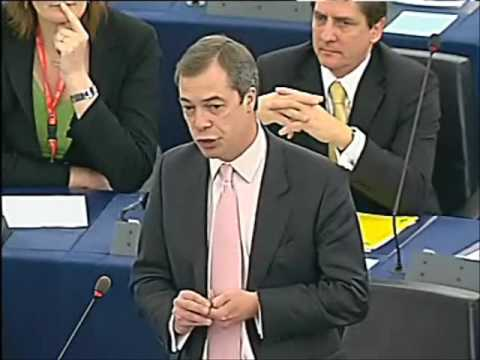 Nigel Farage reprimanded for criticising new EU president & foreign minister