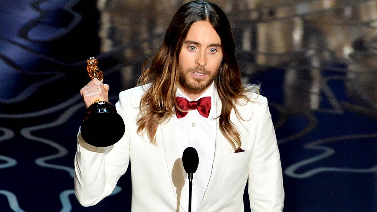 Image result for jared leto oscar 2014