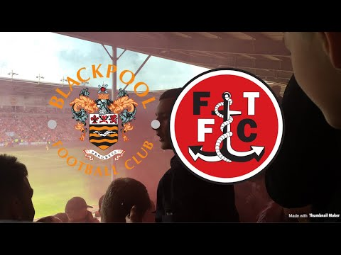 PYROS, LIMBS AND PITCH INVASION! BLACKPOOL VS FLEETWOOD VLOG
