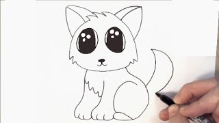 How to Draw a Cartoon Cat in under 2 minutes