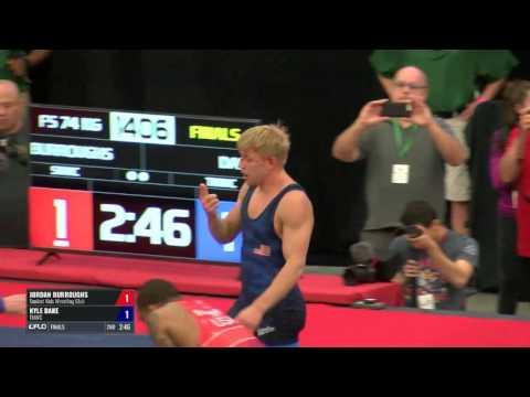 74 Finals - Jordan Burroughs (Sunkist Kids WC) vs. Kyle Dake (TMWC)