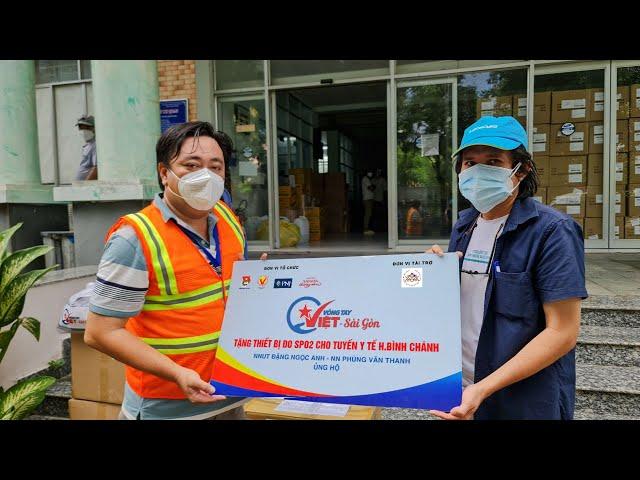 Vòng Tay Việt – Sài Gòn tặng 2105 chiếc máy SP02 cho Y tế tuyến cơ sở tại TP.HCM