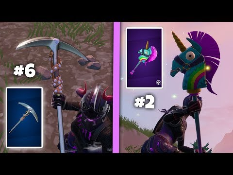 The TOP 10 Most SATISFYING Pickaxes In Fortnite Battle Royale!