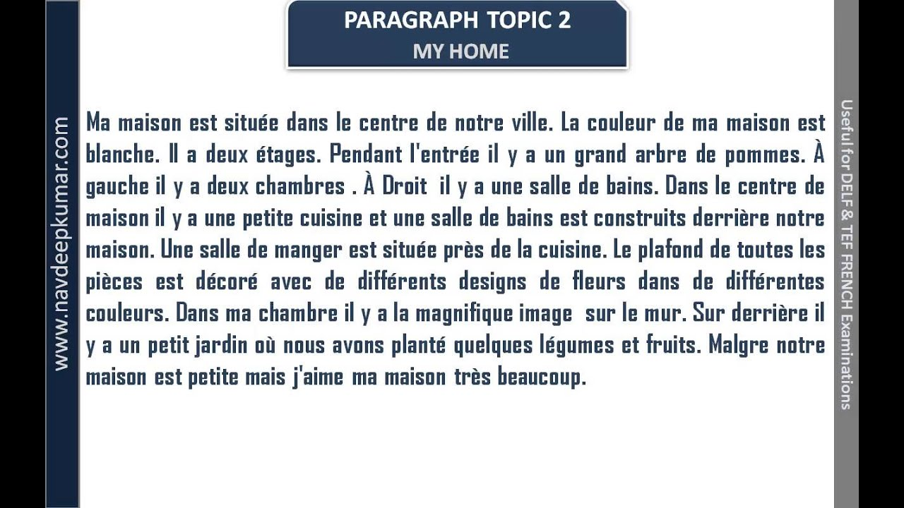small essay in french