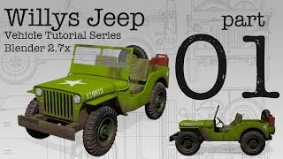 Willys Jeep   Blender Tutorial Series   Part 1   Setting Up Guides