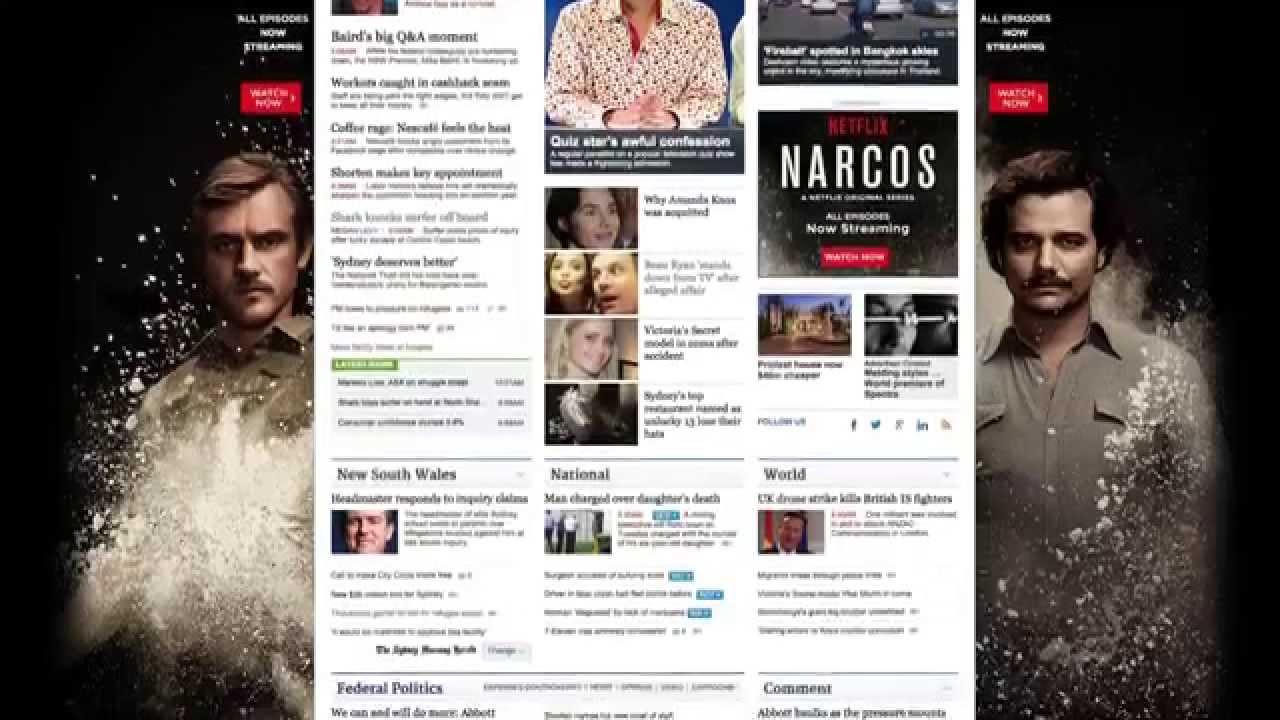 Fairfax Digital Innovation Parallax Scrolling - Netflix Narcos