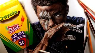 Drawing Black Panther (Pantera Negra) Colores Crayola - Marvel - Timelapse | Jano Matta
