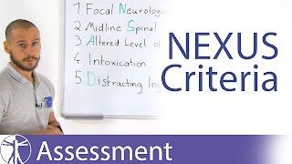 NEXUS Criteria | Cervical Spine Fractures