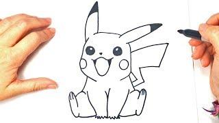 Cómo dibujar a Pikachu paso a paso | Dibujo del Pokemon Pikachu