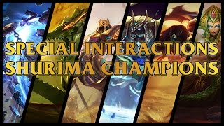All 35+ Shurima Champions Interactions Between Sivir,Xerath,Renekton,Azir,Nasus And Cassiopeia