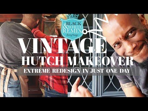 DIY vintage hutch makeover 2019