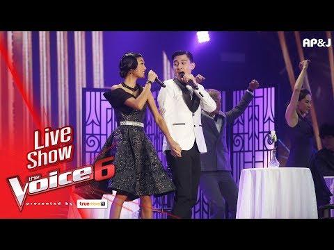 เก่ง+ข้าวฟ่าง - Can't Take My Eyes Off You  - Live Show - The Voice Thailand - 18 Feb 2018