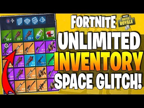 *NEW* Fortnite BR GLITCH - How To Get UNLIMITED INVENTORY SPACE - Hold Unlimited Weapons & Items !