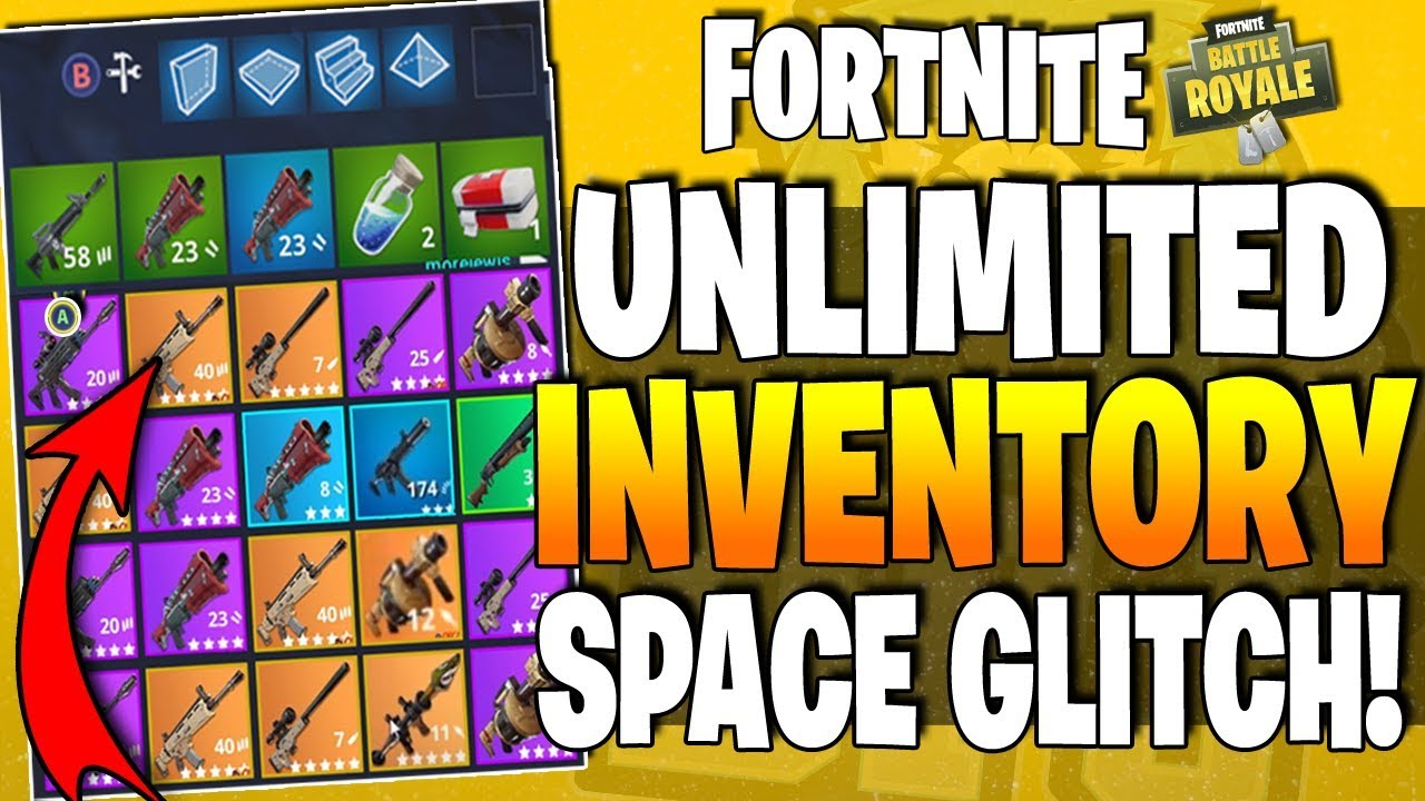 New Fortnite Br Glitch How To Get Unlimited Inventory