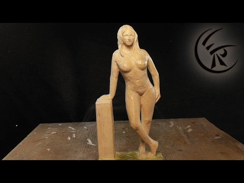 "Woodcarving ""Woman standing"" ►► Timelapse"