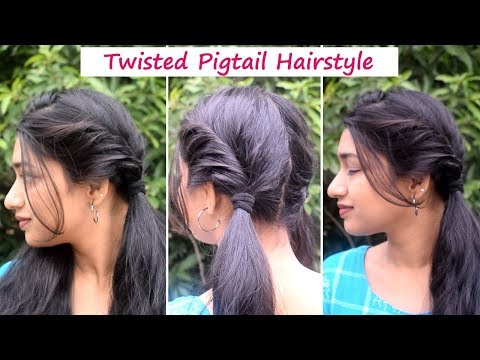 Twisted Pigtails hairstyle for beginners   Niya Kumar thumbnail