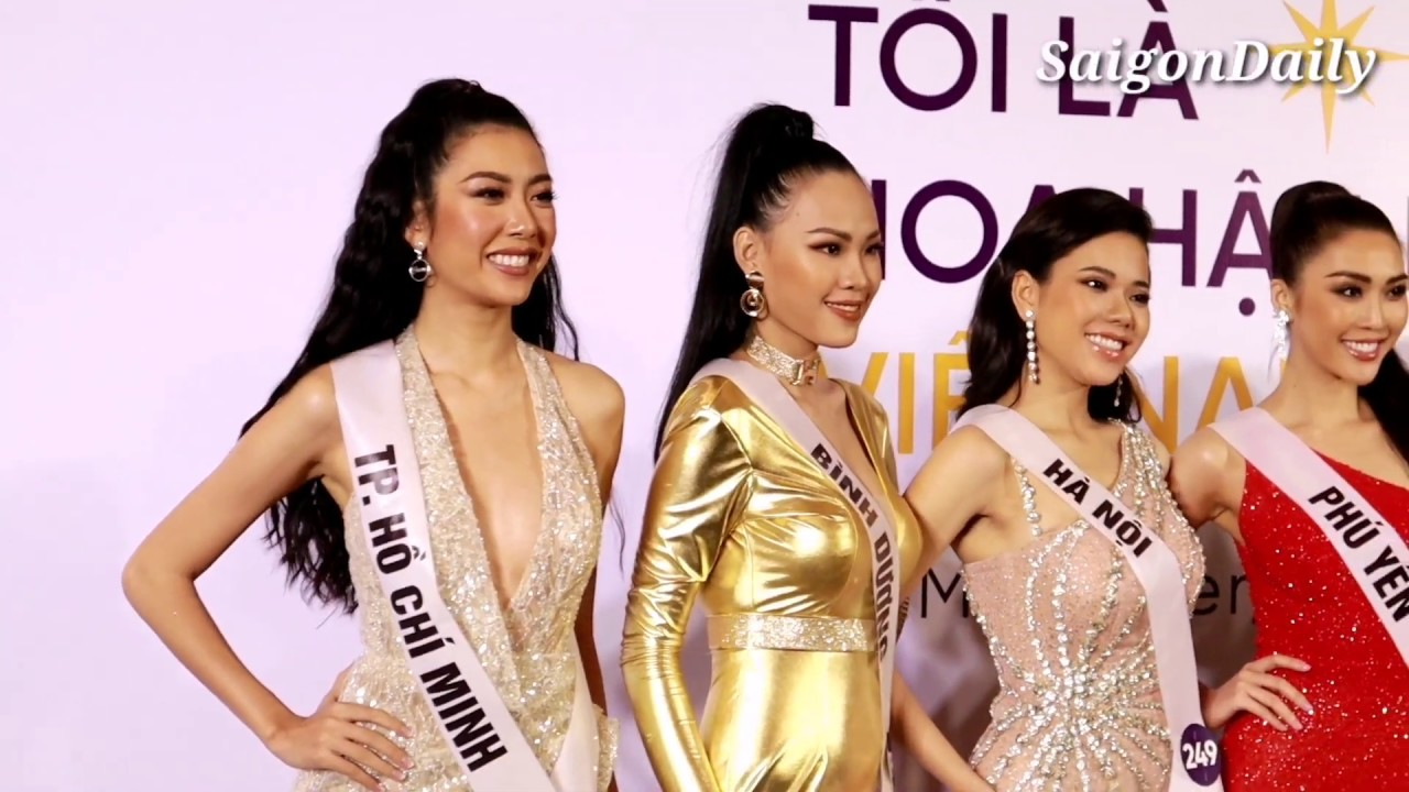 Thúy Vân xuất hiện cùng  top 60 Hoa hậu Hoàn Vũ với màn Chào sân ấn tượng trong ngày họp báo