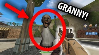 I found GRANNY Army in FORTNITE Tilted Towers (Fortnite gmod Granny Mobile Horror Game)