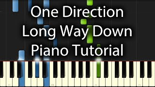 One Direction - Long Way Down Tutorial (How To Play On Piano)