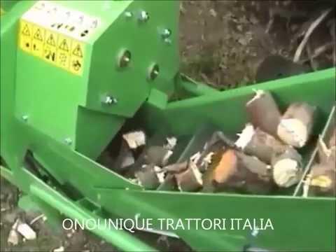 """DIVISORE RIFIUTI DI LEGNO BOBR 75 (""""CASTORO"""") TRANSPORT, ONOUNIQUE TRATTORI ITALIA"""
