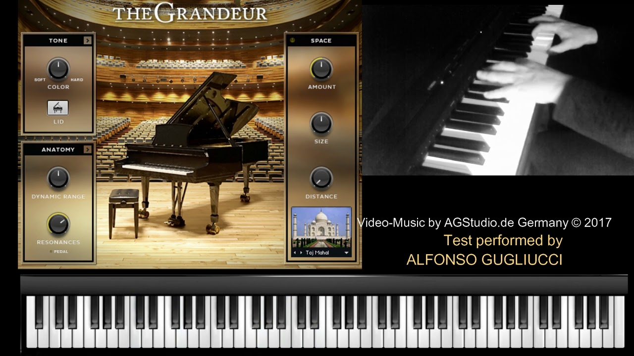 Native Instruments THE GRANDEUR - jazz piano (free patch) - YouTube