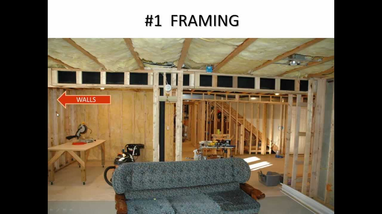 How to finish a basement youtube Diy basement finishing ideas