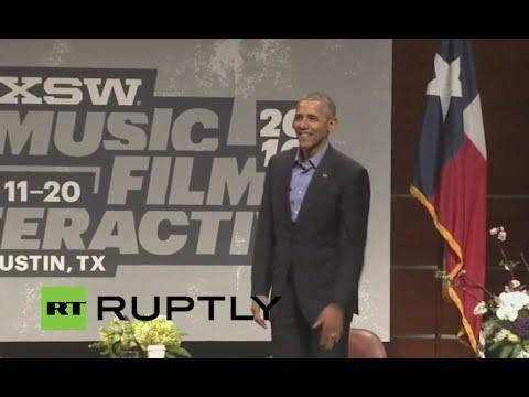 LIVE: Obama holds keynote address at SXSW Interactive