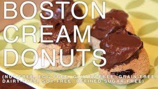 Boston Cream Donuts (gluten-free, Grain-free, Dairy-free, Egg-free, Soy-free, Refined Sugar-free)