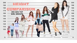 KPOP HEIGHT COMPARISON! Shortest VS Tallest Idols (TOP SELLING 3RD GENERATION GIRL GROUPS)
