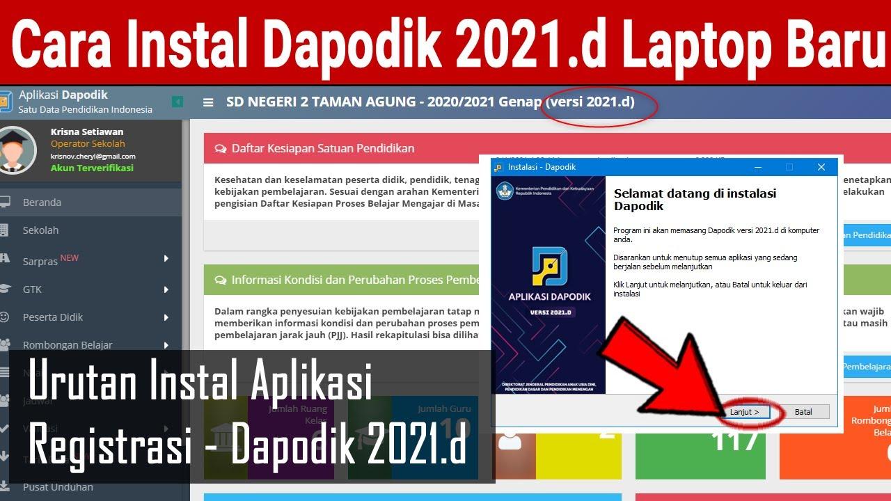 Cara Instal Aplikasi Dapodik 2021 D Di Laptop Baru Youtube
