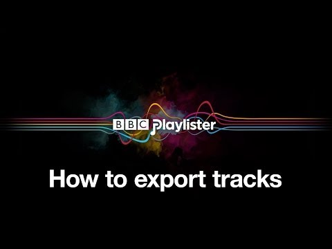 BBC Playlister: How to export tracks #getplaylisting