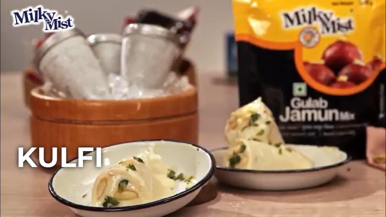 Homemade Badam-Pista Kulfi Recipe| Indian Dessert Recipe| English Recipe| MilkyMist