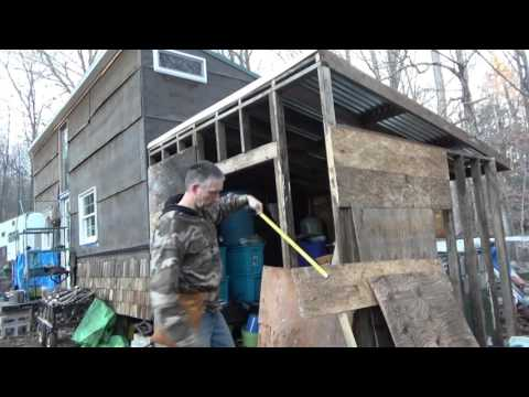 Off Grid Solar Battery & Rain Water Shed Construction