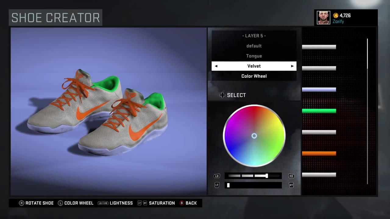 NBA 2K16 Shoe Creator - Nike Kobe 11