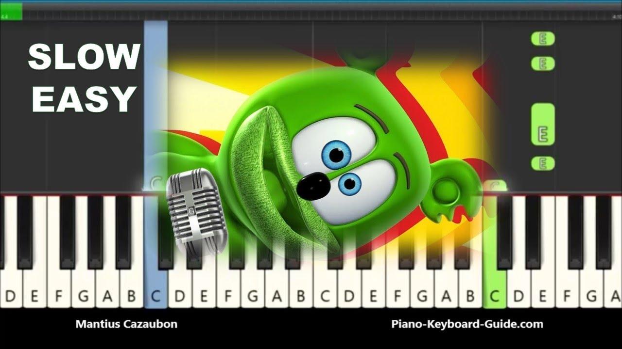 How To Play The Gummy Bear Song On Piano Gummibar Easy Piano