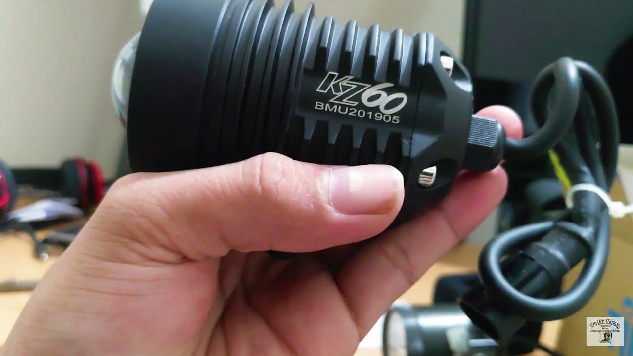 Review Cây đèn Trợ Sáng KZ60 – XE ĐI RỪNG