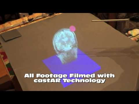 Virtual Reality projected 3D image of  MRI Scan
