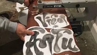 Hướng dẫn cách làm chữ thư pháp gỗ.
