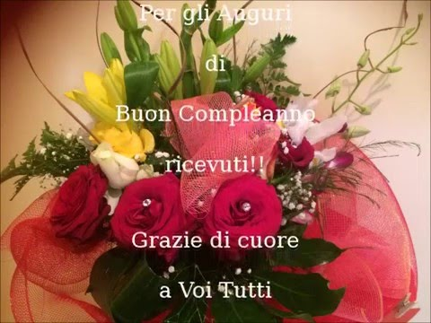 Favorito Ringrazio gli Amici per gli Auguri di Compleanno!! - YouTube PW36