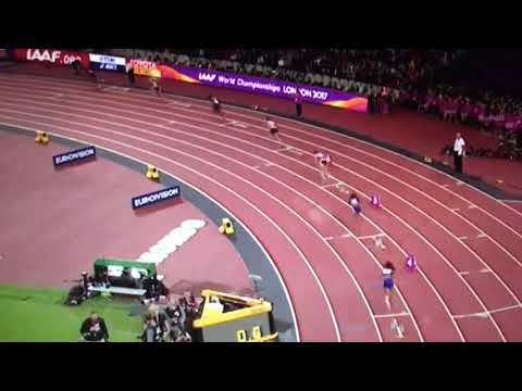 Kori Carter wins 400m Hurdles Women Final IAAF World Champs London 2017