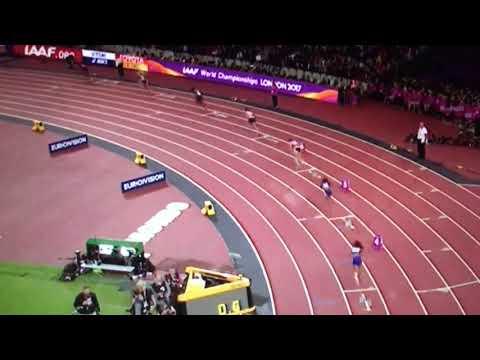 Kori Carter wins 400m Hurdles Women Final IAAF World Champs London 2017